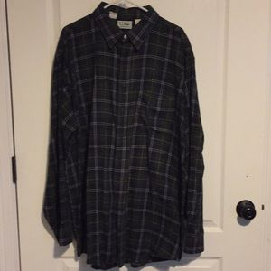 LL Bean Northwoods Plaid Flannel Shirt 2XL